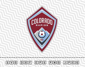 Svg Colorado Rapids Soccer Club Logo Vector Layered Cut File Silhouette Cameo Cricut Design Stencil Vinyl - Colorado Rapids Vector, Transparent background PNG HD thumbnail