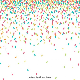 Colorful Confetti Background - Confetti, Transparent background PNG HD thumbnail