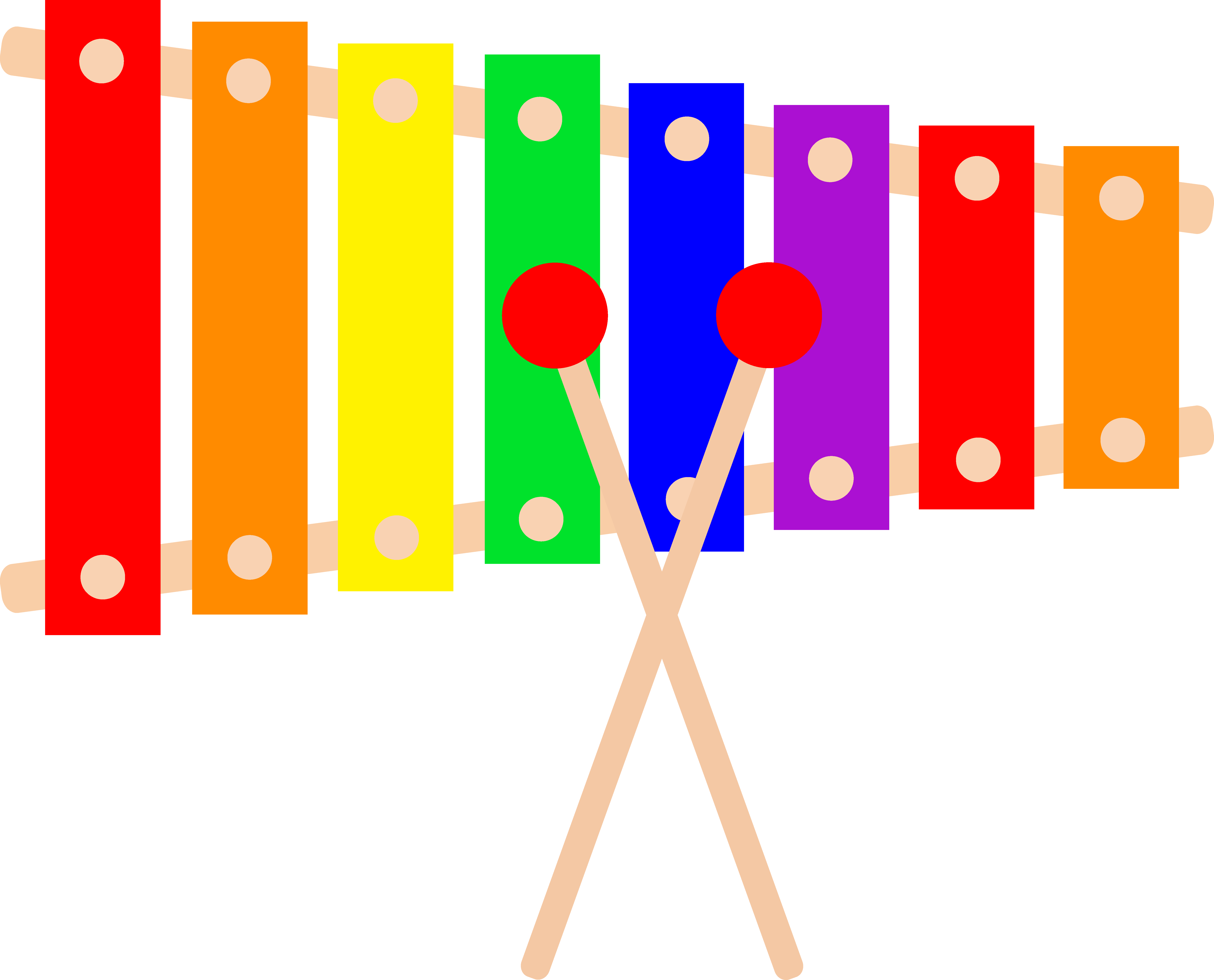 Colorful Xylophone Design Free Clip - Xylophone, Transparent background PNG HD thumbnail