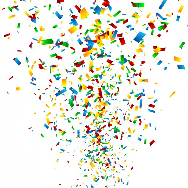Colourful Confetti Background - Confetti, Transparent background PNG HD thumbnail