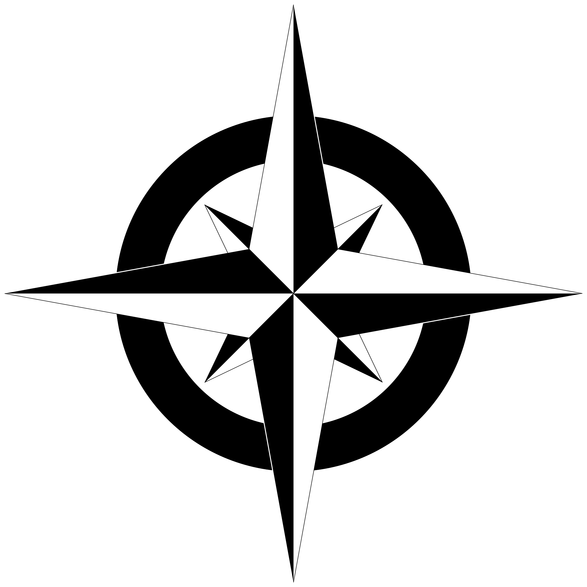 Compass Rose PNG Black And White