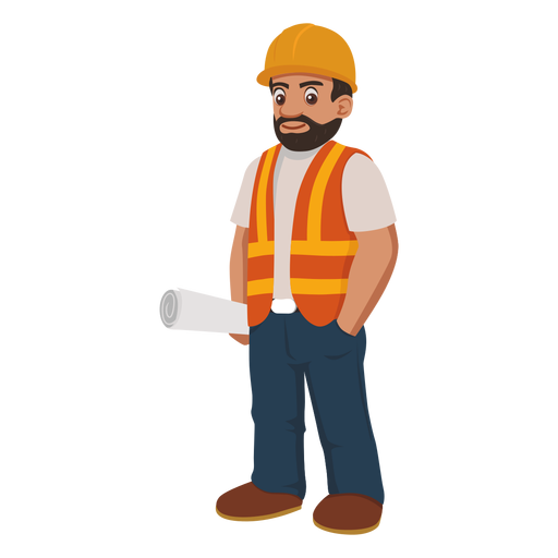 Construction Worker Cartoon Png - Construction Worker, Transparent background PNG HD thumbnail