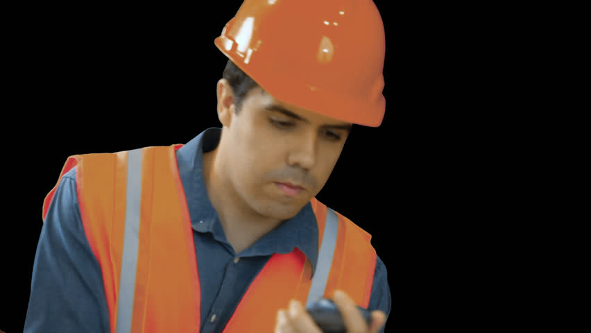 Contractor Or Construction Worker Discussing Plans On A Phone Transparent, Png Background. Stock Footage Video 3345524   Shutterstock - Construction Worker, Transparent background PNG HD thumbnail