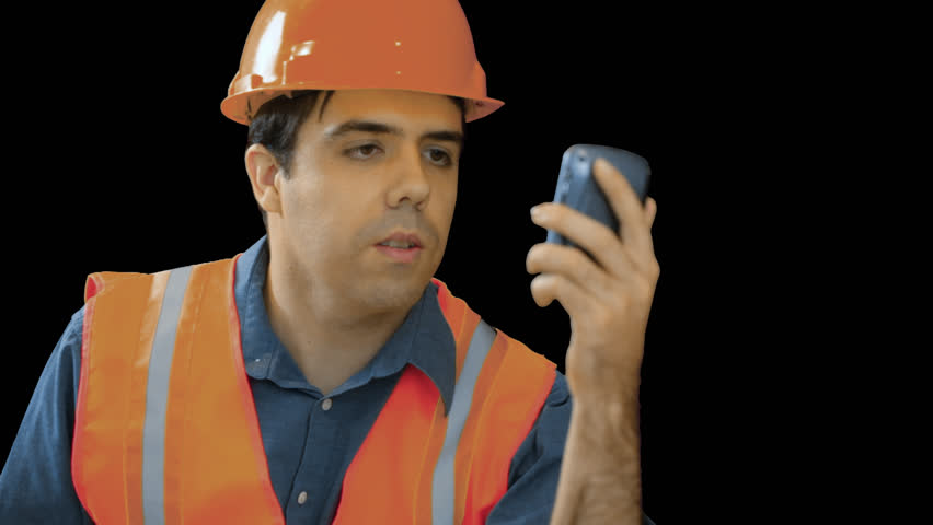 Contractor Or Construction Worker Discussing Plans On A Phone Transparent, Png Background. Stock Footage Video 3345566   Shutterstock - Construction Worker, Transparent background PNG HD thumbnail