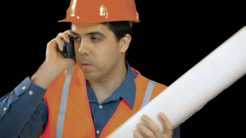 Contractor Or Construction Worker Looking At Plans. Transparent, Png Background. Stock Footage Video 3345575   Shutterstock - Construction Worker, Transparent background PNG HD thumbnail