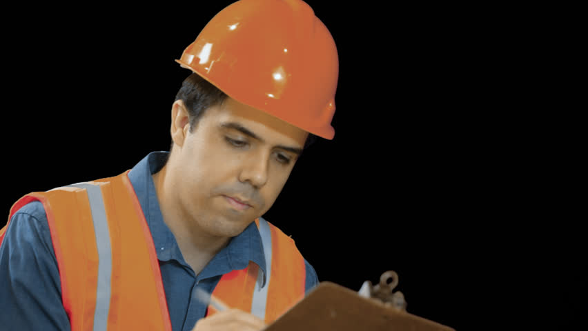 Contractor Or Construction Worker Writing On A Notepad Transparent, Png Background. Stock Footage Video 3345518   Shutterstock - Construction Worker, Transparent background PNG HD thumbnail