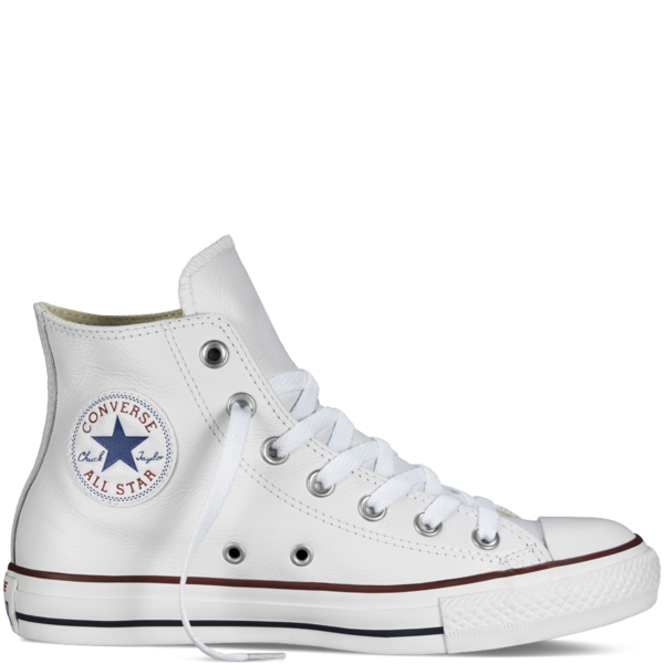 Converse Leather Chuck Taylor Hi Optical White 132169 - Converse, Transparent background PNG HD thumbnail