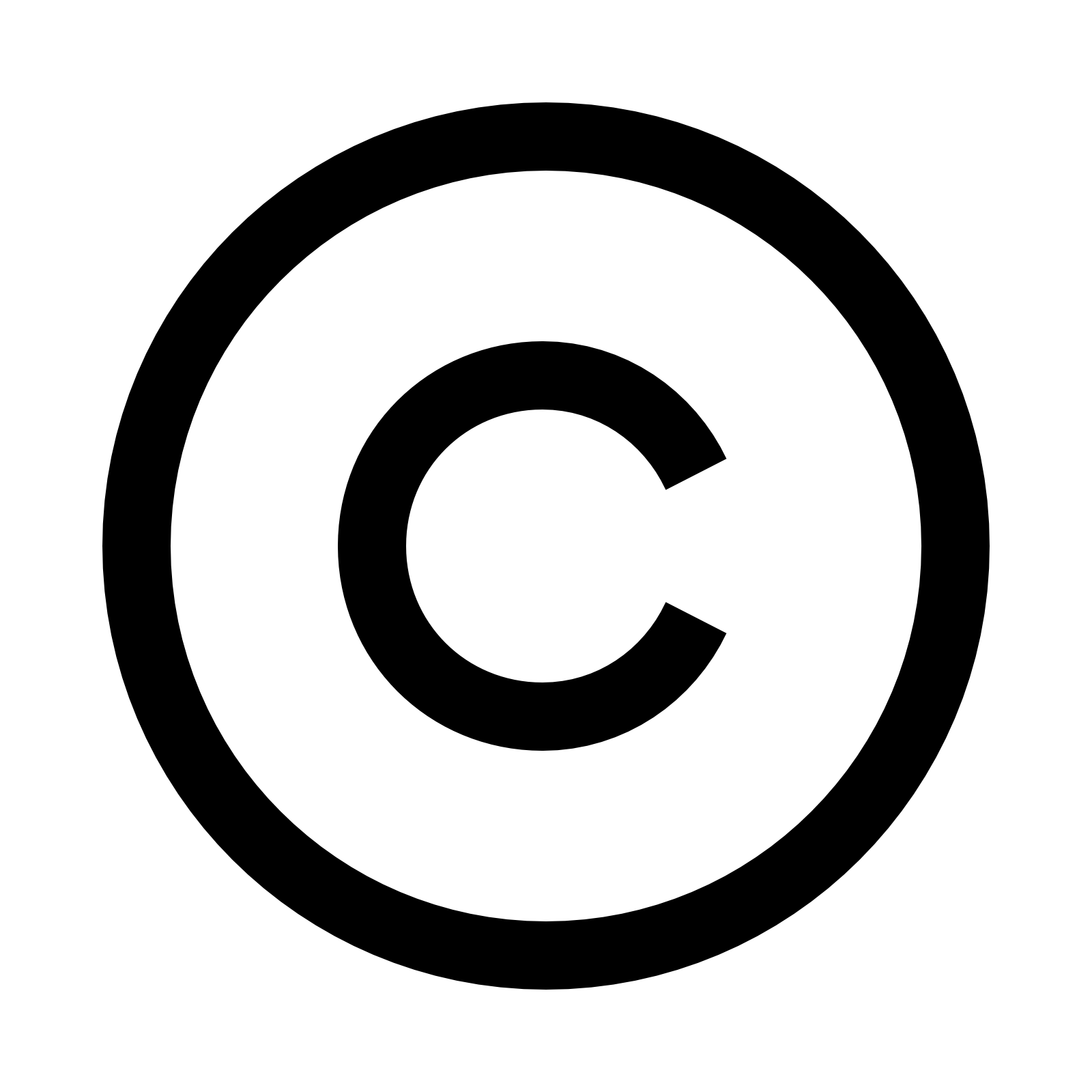 Copyright Icon - C, Transparent background PNG HD thumbnail