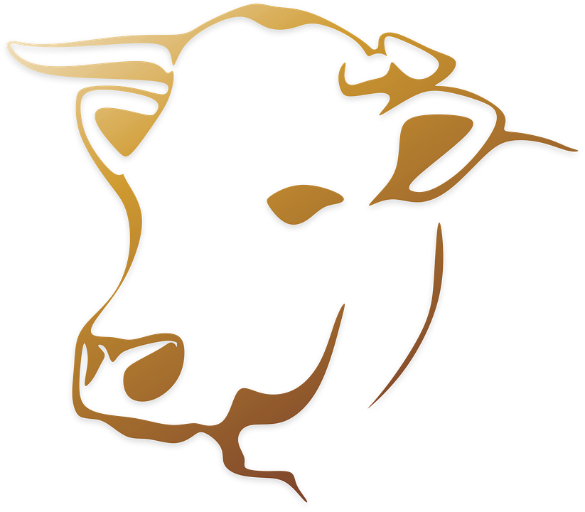 Cow Cattle Animal Farm Logo - Cow Head, Transparent background PNG HD thumbnail