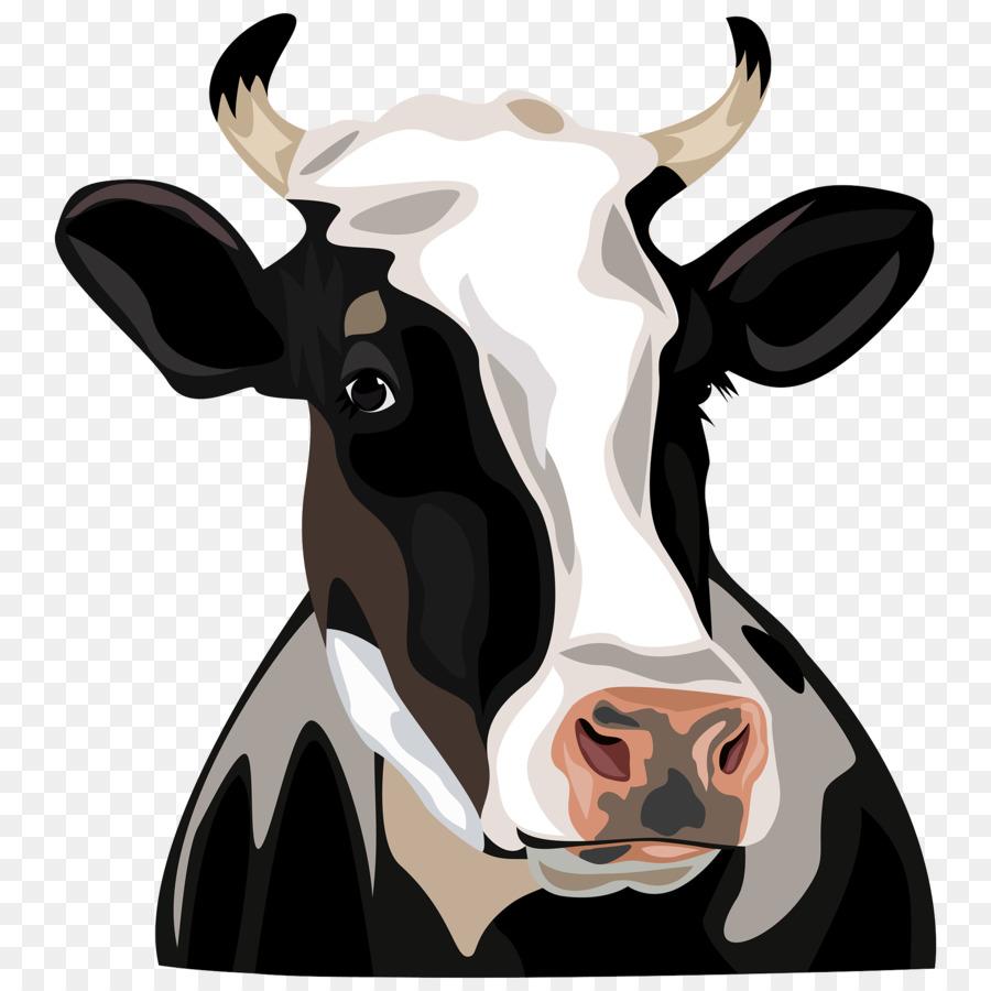 Holstein Friesian Cattle Clip Art   Cow Head - Cow Head, Transparent background PNG HD thumbnail