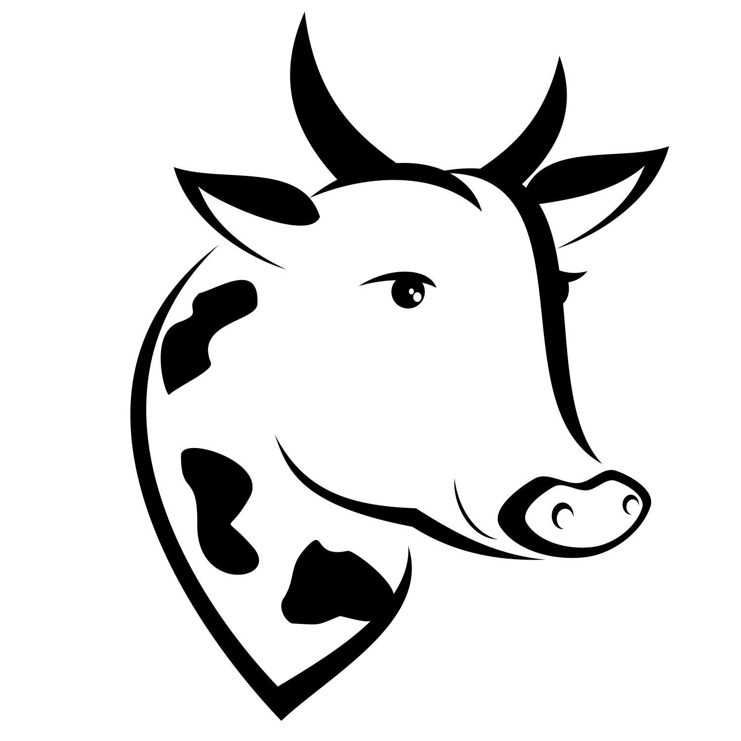 Vector Cowu0027S Head   Png Cow Head - Cow Head, Transparent background PNG HD thumbnail