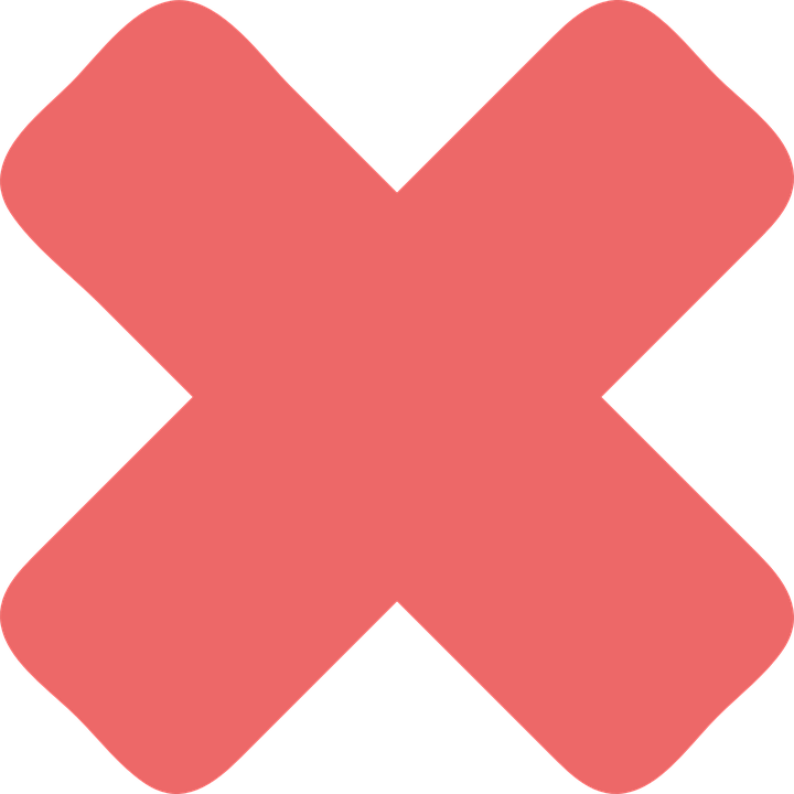 Cross Mark, Red, Sign, Icon, Mark, Symbol, Cross - Red Cross Mark, Transparent background PNG HD thumbnail