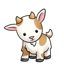 Cute Goat Png Hd - Cute Clipart Baby Goat #1, Transparent background PNG HD thumbnail