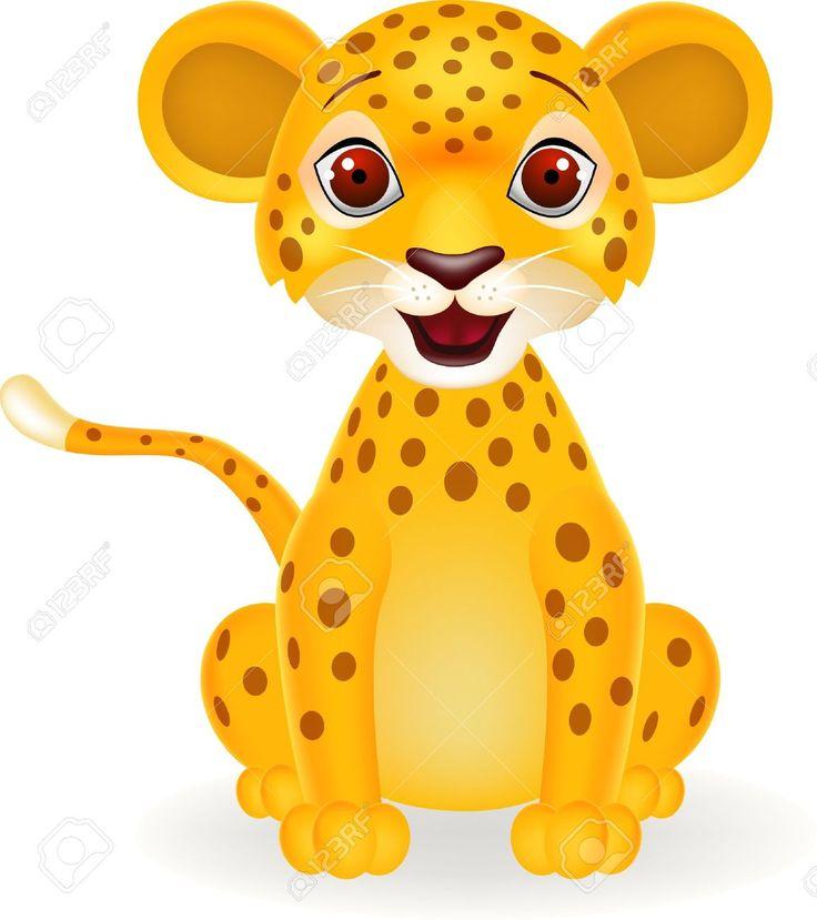 Animals For U003E Cute Cartoon Baby Leopard | Craft   Kid Stencil Ideas | Pinterest | Baby Leopard And Cartoon - Cute Leopard, Transparent background PNG HD thumbnail