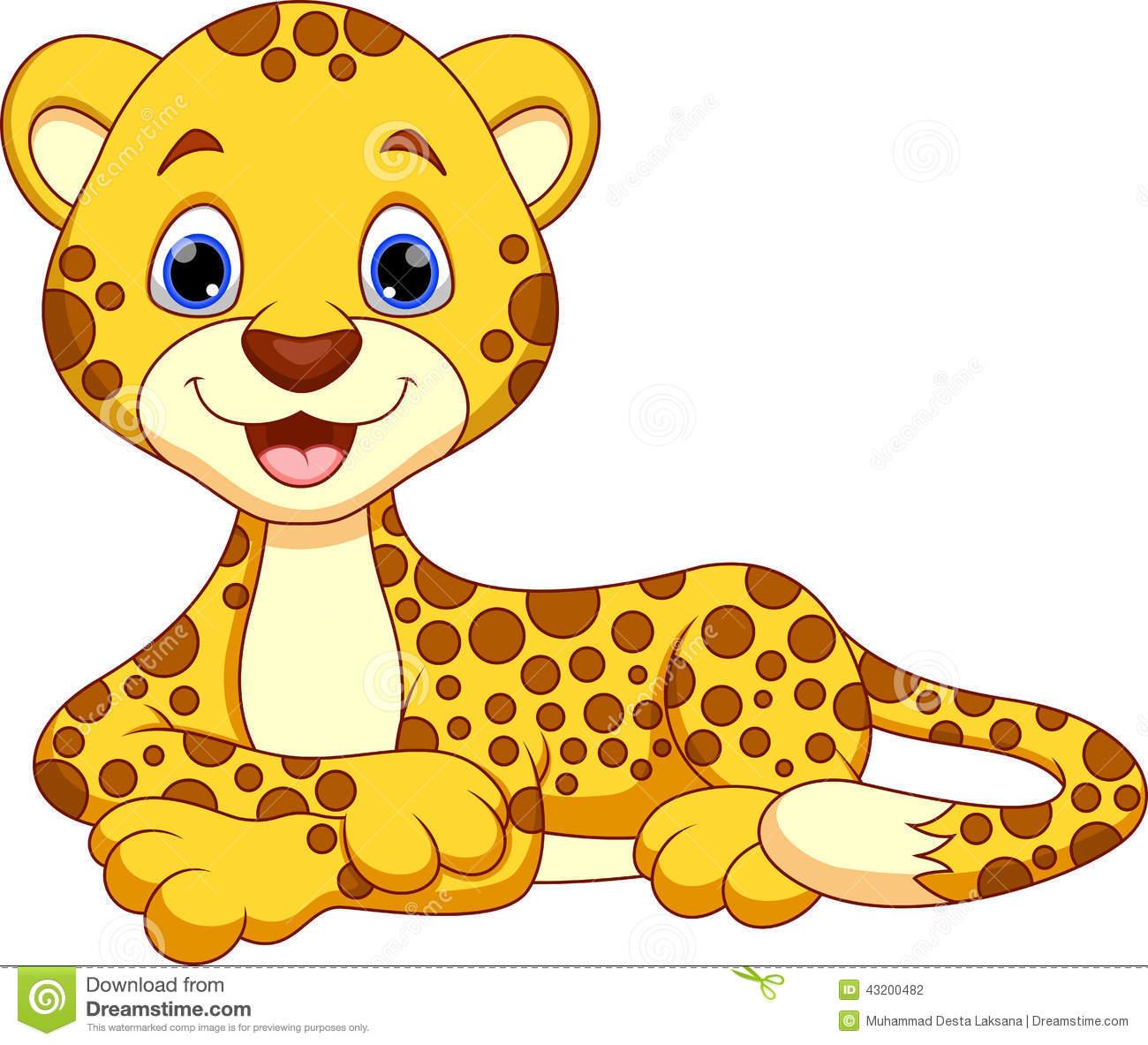 Cheetah Clip Art 54 - Cute Leopard, Transparent background PNG HD thumbnail