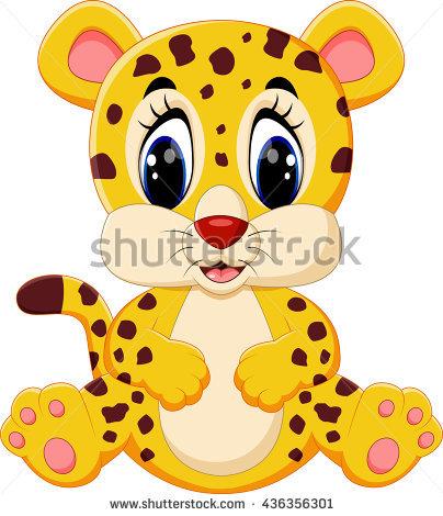 Cute Leopard Cartoon - Cute Leopard, Transparent background PNG HD thumbnail
