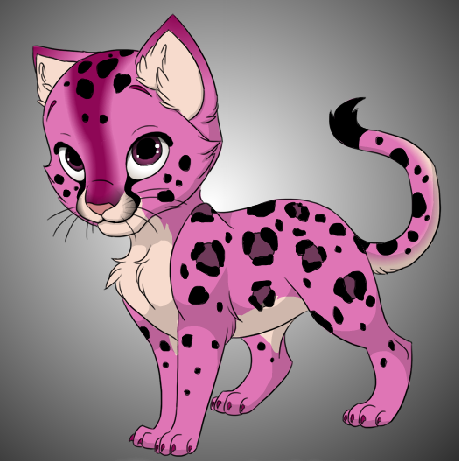 Cute Pink Leopard Kitty By Drtripwire Hdpng.com  - Cute Leopard, Transparent background PNG HD thumbnail