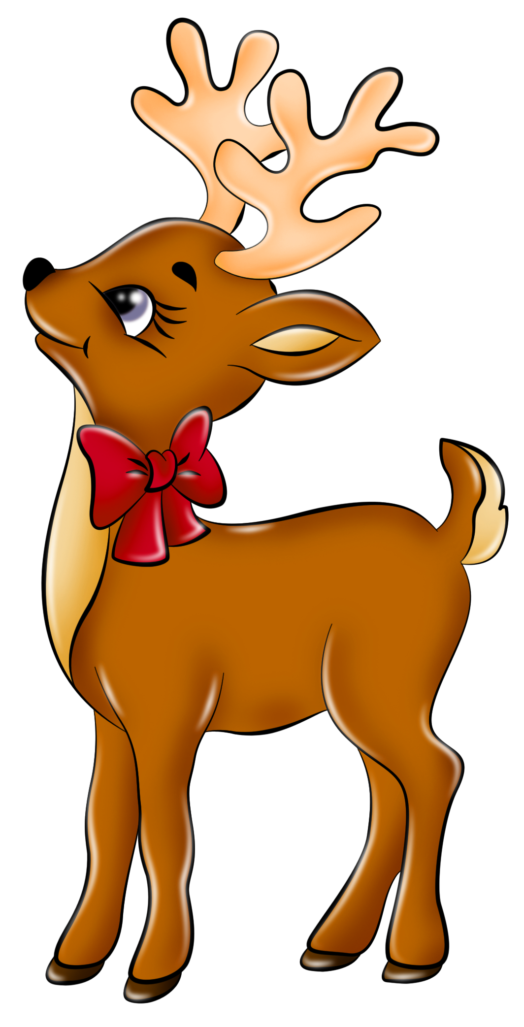 Cute Reindeer Clip Art Clipart   Free Clipart - Reindeer, Transparent background PNG HD thumbnail