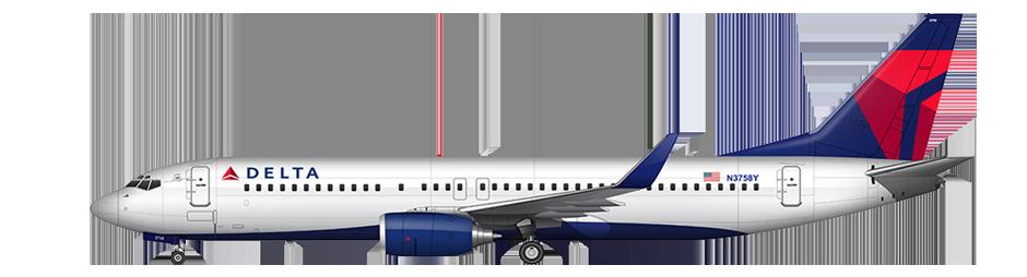 Delta Airlines Flight Delay Compensation - Delta Airlines, Transparent background PNG HD thumbnail