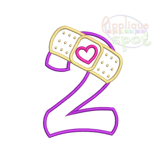 Doc Mcstuffins 2Nd Birthday Png - Bandaid Second 2Nd Birthday Doc Mcstuffins Number 2  Sizes: 4X4, 5X7, 6X10 Applique Design Embroidery Machine  Instant Download File, Transparent background PNG HD thumbnail