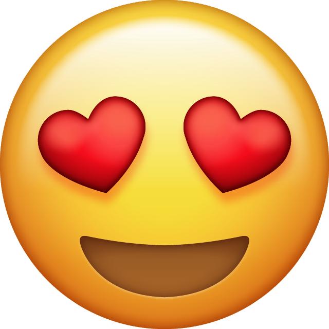 Download Heart Eyes Emoji - Emoji, Transparent background PNG HD thumbnail