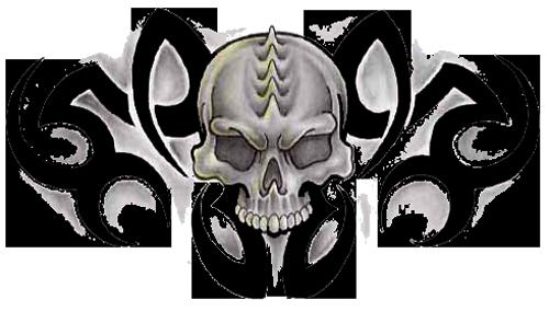 Download Png Image   Tribal Skull Tattoos Free Png Image - Tribal Skull Tattoos, Transparent background PNG HD thumbnail