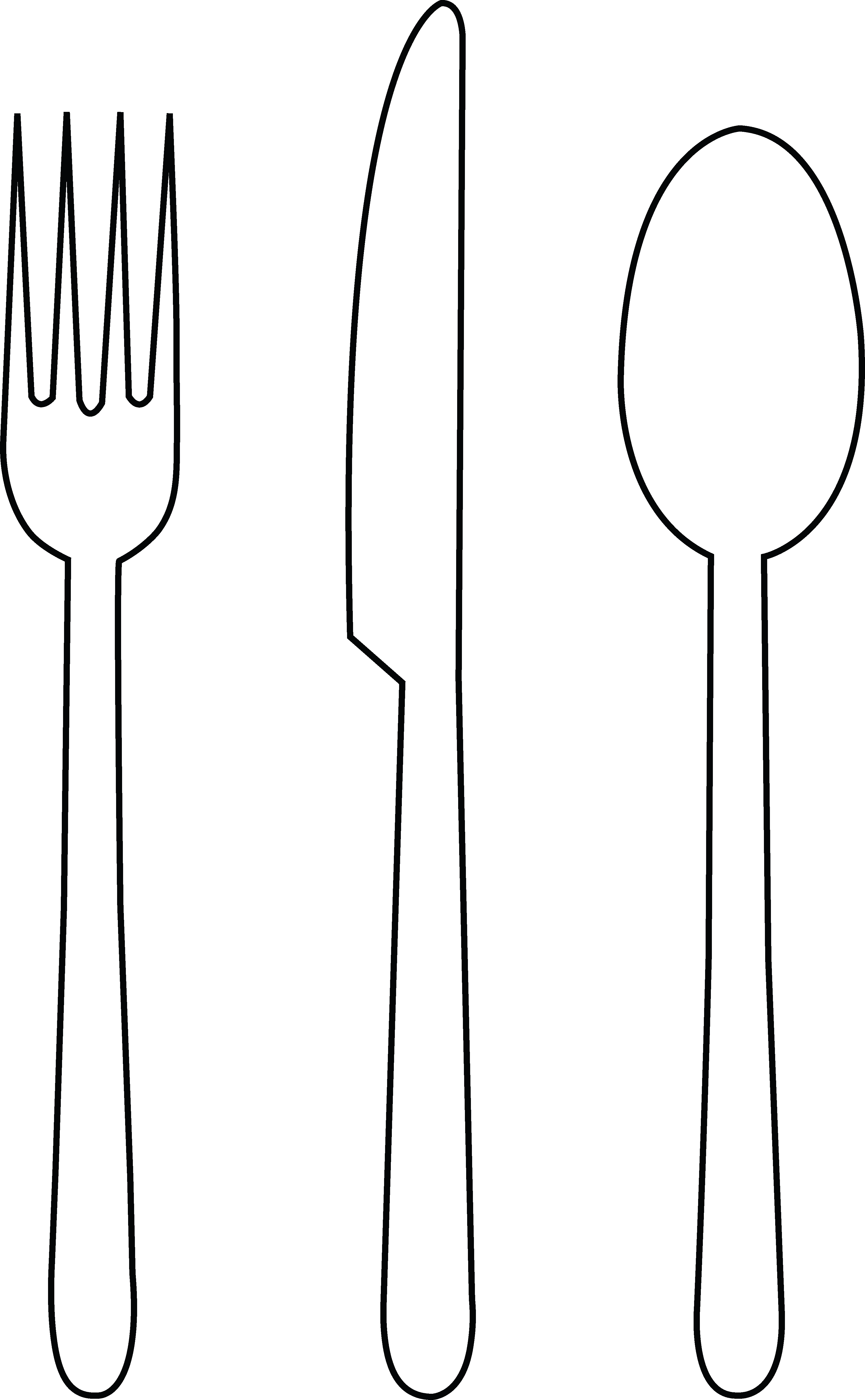 Fancy Fork Png Black And White - Fancy Fork Clipart Black And White · Fork Spoon And Knife Clipart, Transparent background PNG HD thumbnail