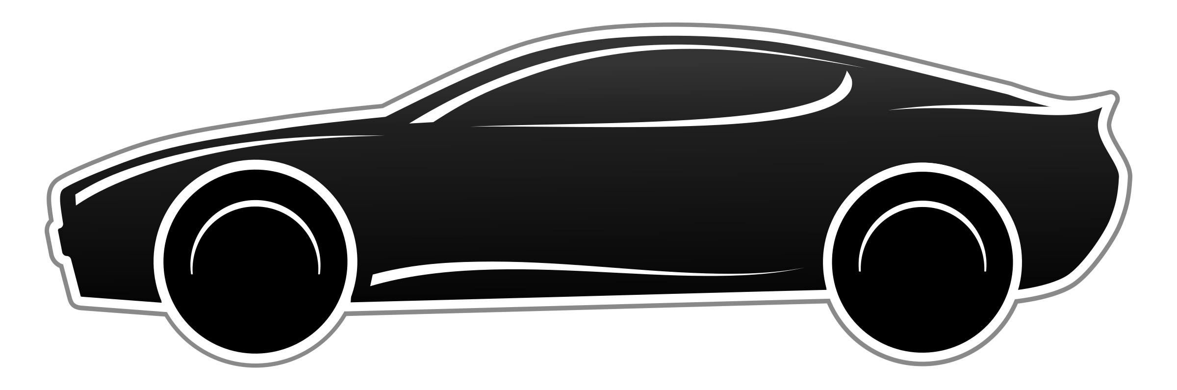 Fast Car PNG Black And White