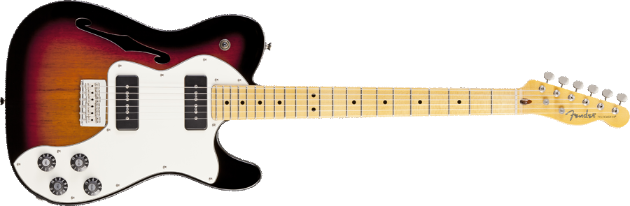 Fender Modern Player Telecaster Thinline Deluxe Dimi78 Images - Fender, Transparent background PNG HD thumbnail
