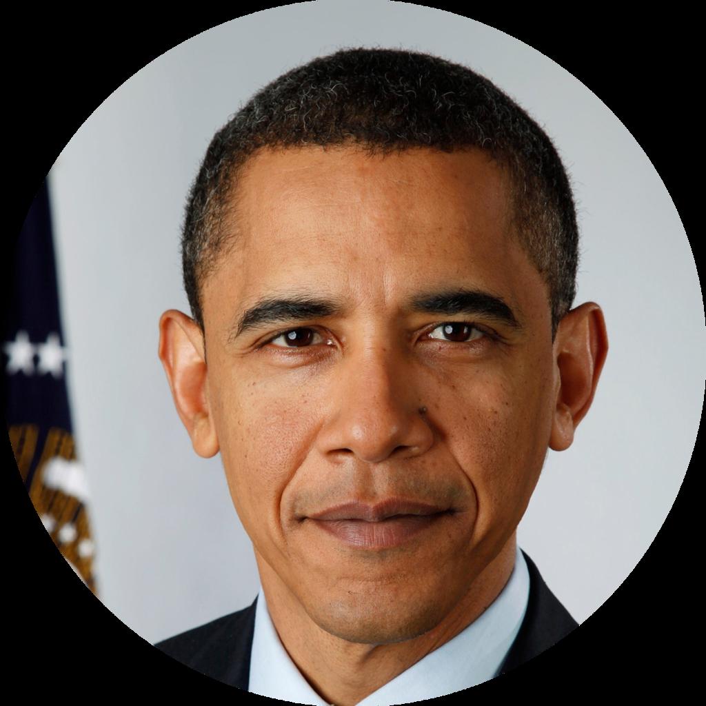 File:barack Obama Circle.png - Barack Obama, Transparent background PNG HD thumbnail