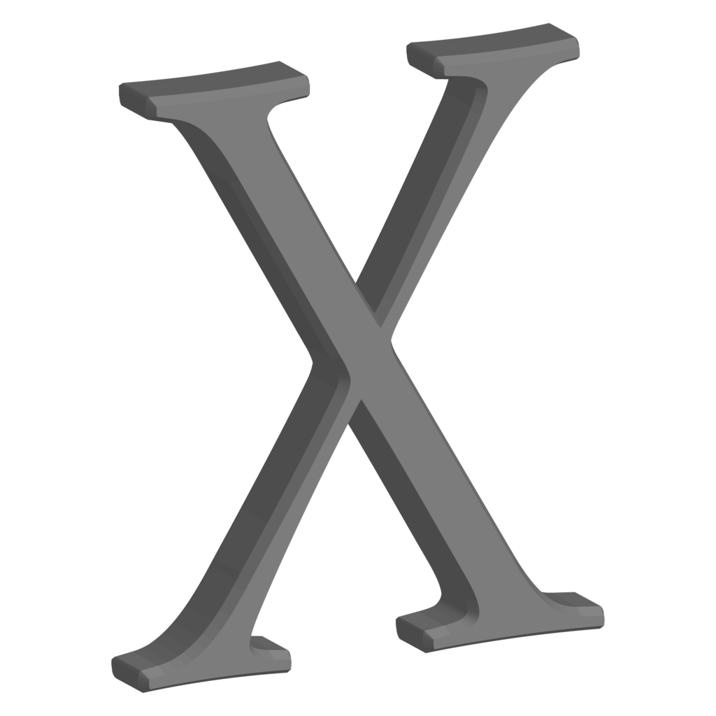File:mac Os X Userbox X.png - Mac Os X, Transparent background PNG HD thumbnail