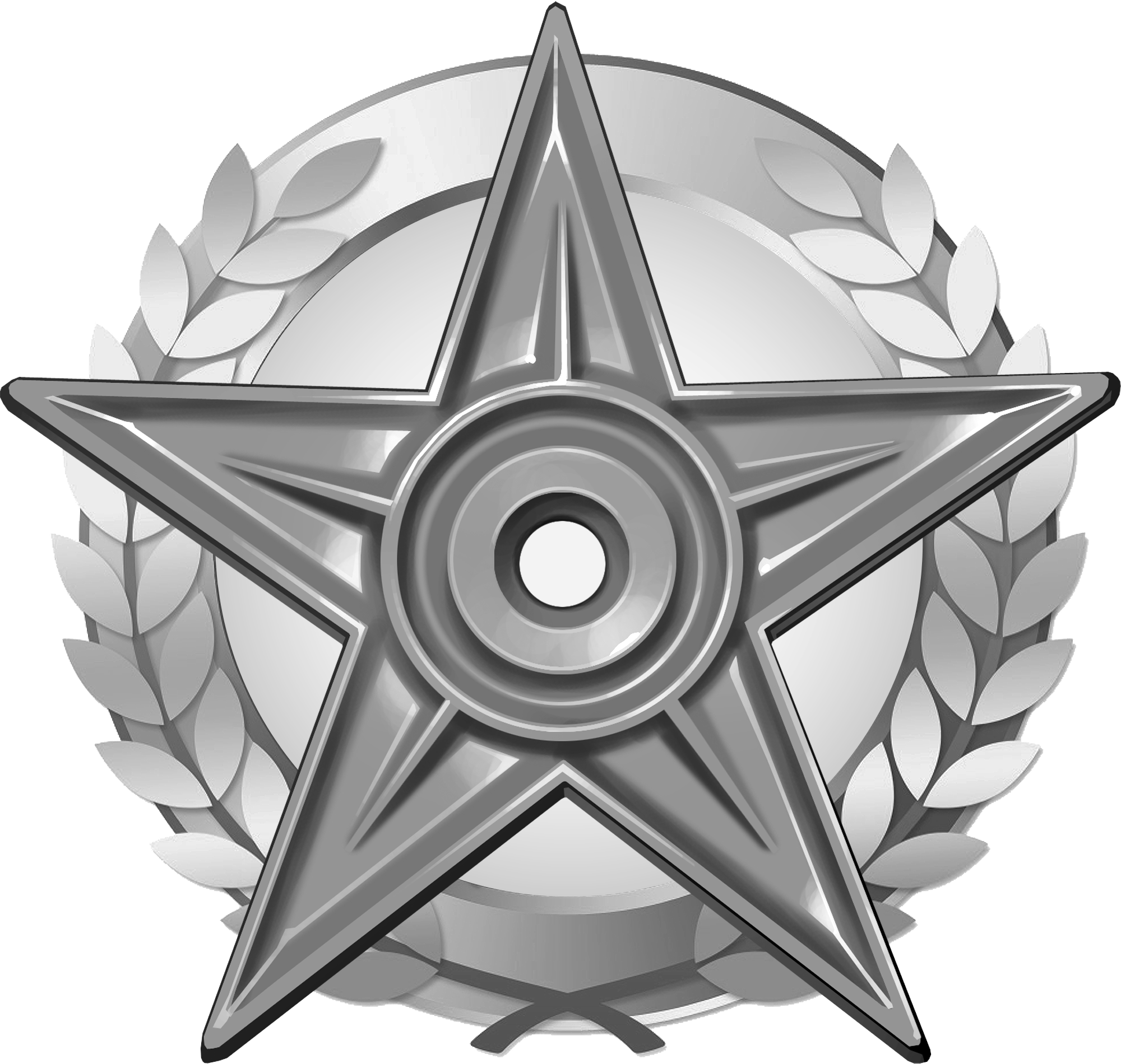 File:wikiproject Barnstar Hires Silver.png - Silver, Transparent background PNG HD thumbnail