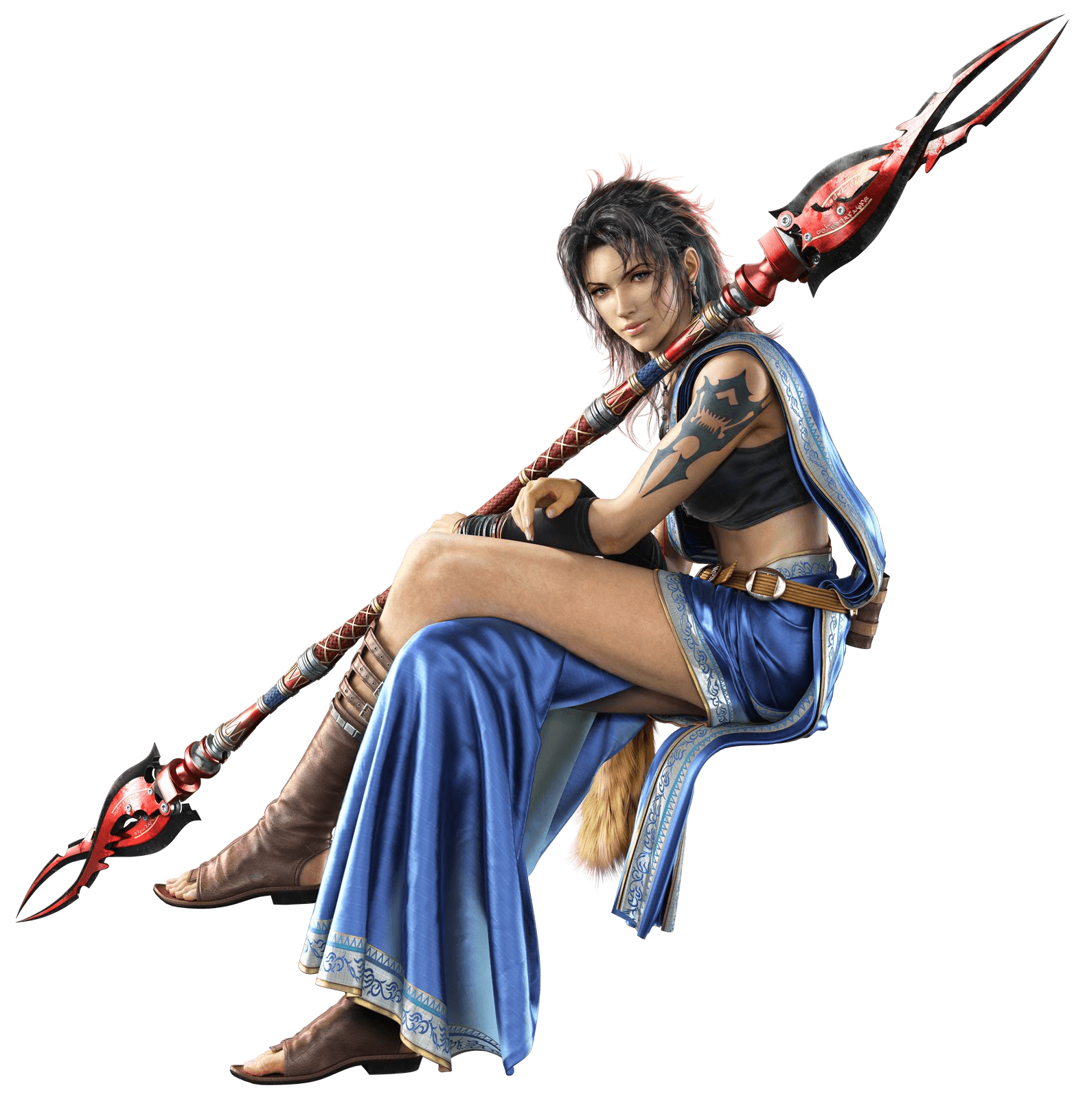Final Fantasy Png - Final Fantasy Sitting Sideview, Transparent background PNG HD thumbnail