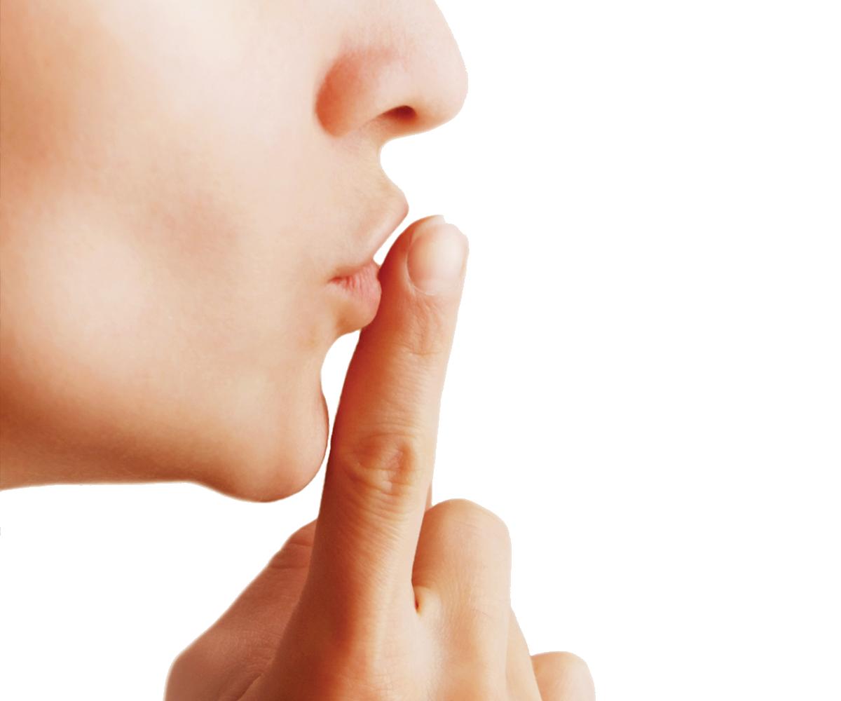 Finger On Lip PNG