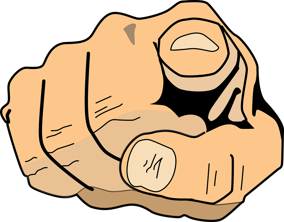 Finger Pointing At You PNG