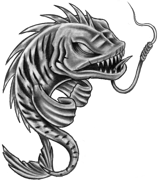 Fish Skeleton Pisces Tattoos Stencil Photo   1 - Fish Tattoos, Transparent background PNG HD thumbnail