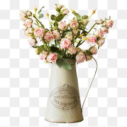 Flower Pot Png - Decorative Metal Flower Pot, Iron Vase, Flower, Kettle Png Image, Transparent background PNG HD thumbnail