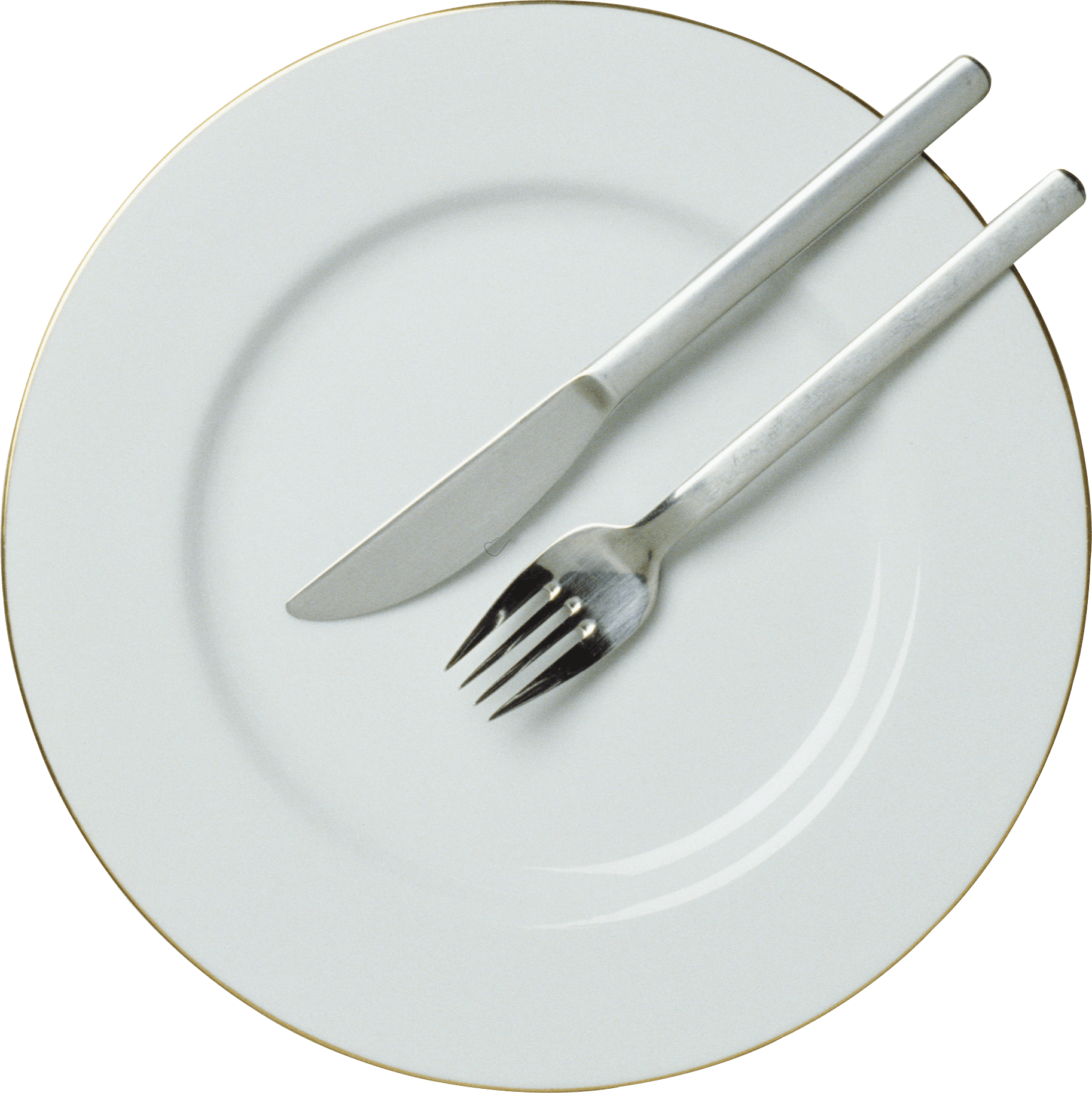 Fork Knife Plate - Plate, Transparent background PNG HD thumbnail