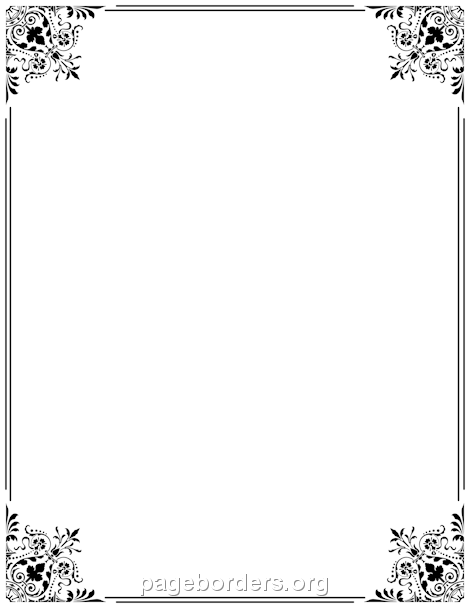 Free Border PNG For Word