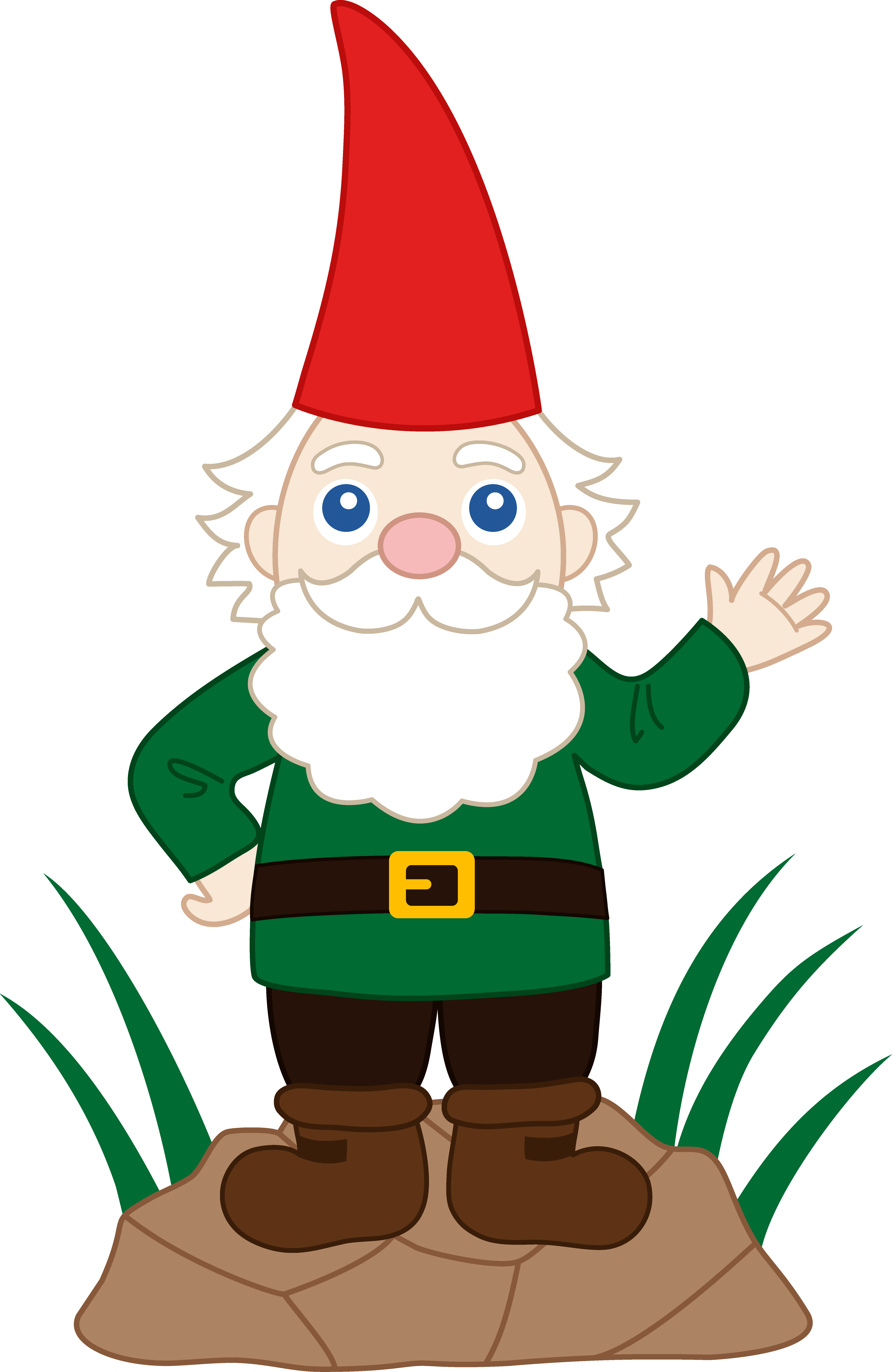 Friendly Garden Gnome   Free Clip Art - Gnome, Transparent background PNG HD thumbnail