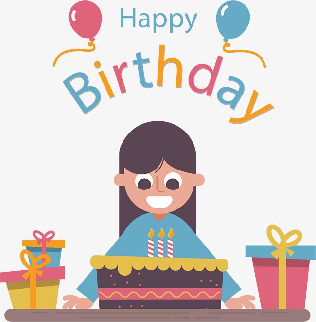 Free Happy Birthday Girl PNG