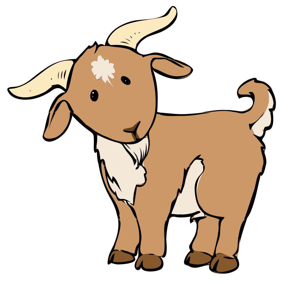 Free To Use Public Domain Goat Clip Art - Goat, Transparent background PNG HD thumbnail