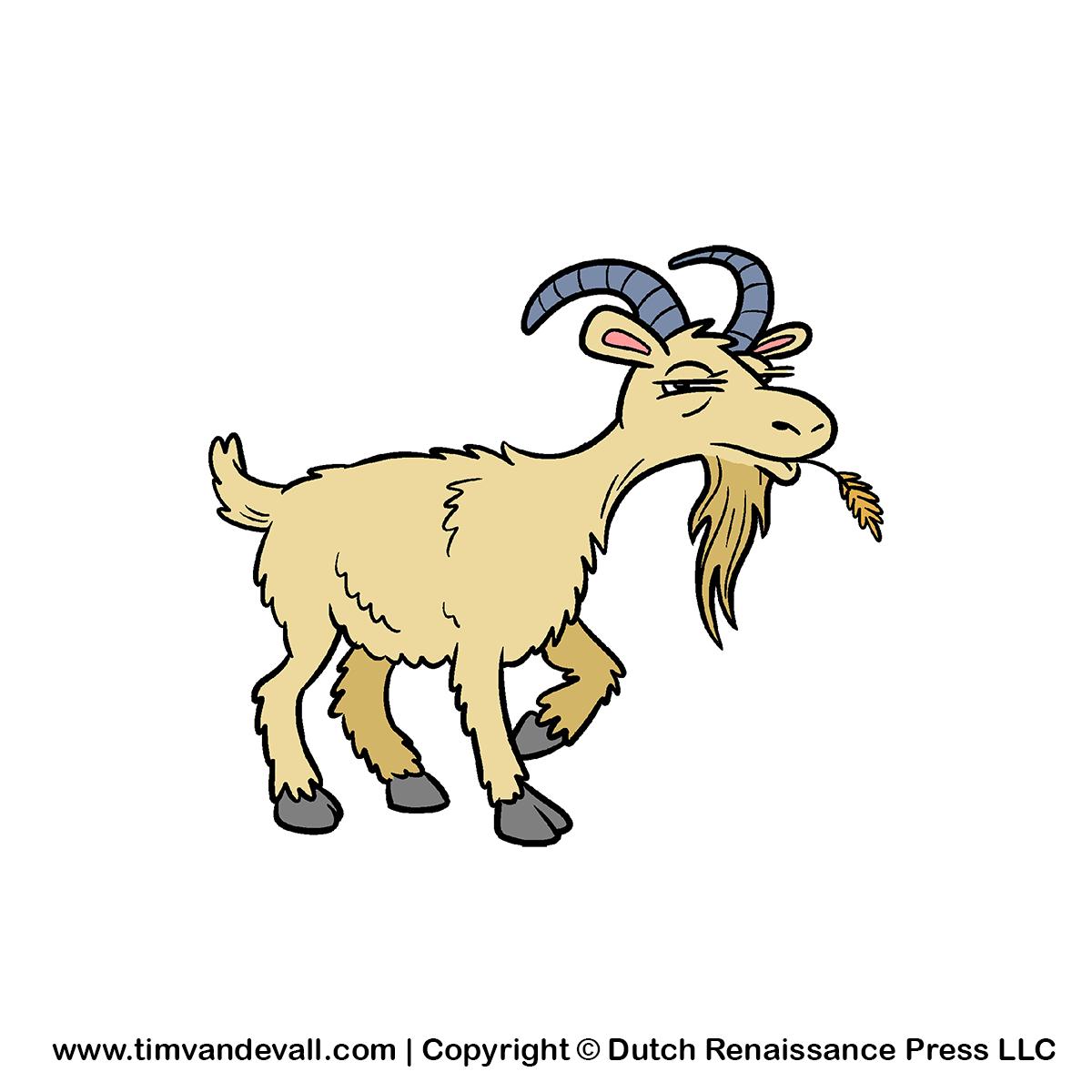 Kid Goat Clipart - Goat, Transparent background PNG HD thumbnail