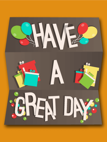 Free Png Have A Good Day - Have A Great Day Wish Card, Transparent background PNG HD thumbnail