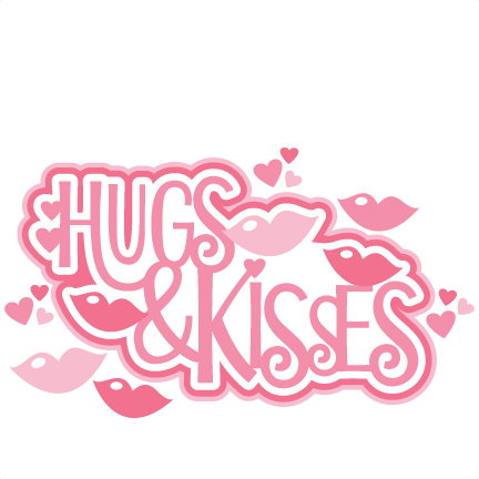 Free Png Hugs And Kisses - Hugs U0026 Kisses Title Svg Scrapbook Cut File Cute Clipart Files For Silhouette Cricut Pazzles Free Svgs Free Svg Cuts Cute Cut Files, Transparent background PNG HD thumbnail