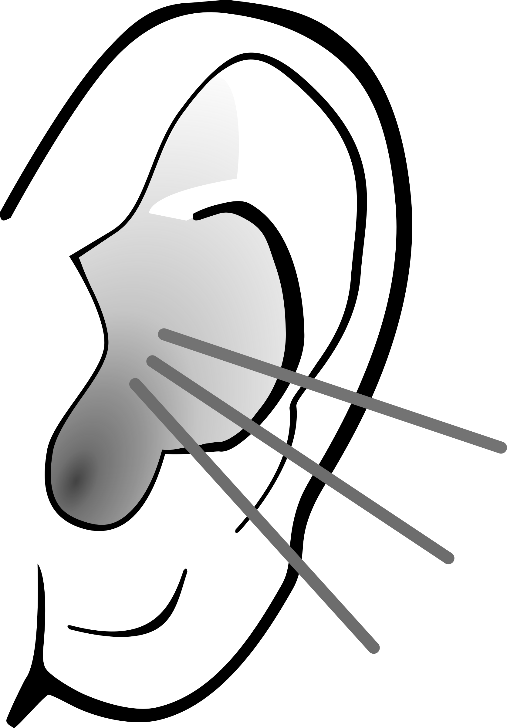 Free PNG Listening Ear