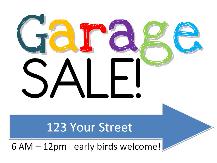 Free Png Yard Sale Sign - Garage Sale Sign Free Printable W/ Yardsale Tips Tricks   Amy, Transparent background PNG HD thumbnail