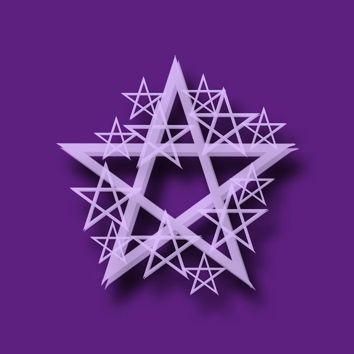 Pentacle Purple Wicca Paganism Mysticism Symbols - Wiccan, Transparent background PNG HD thumbnail