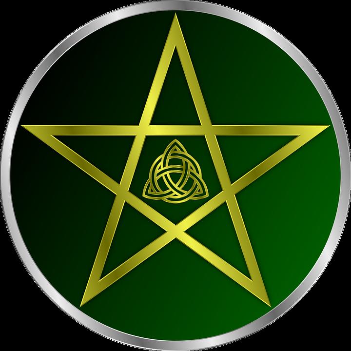 Pentacle, Wicca, Pentagram, Celtic, Vector, Art - Wiccan, Transparent background PNG HD thumbnail