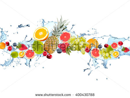 Fruit Water Splash Png - Fresh Fruits Falling In Water Splash, Isolated On White Background, Transparent background PNG HD thumbnail